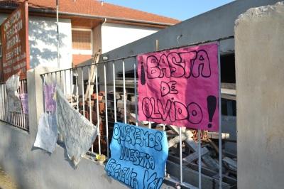 Obras paradas en la Escuela 504 de San Isidro